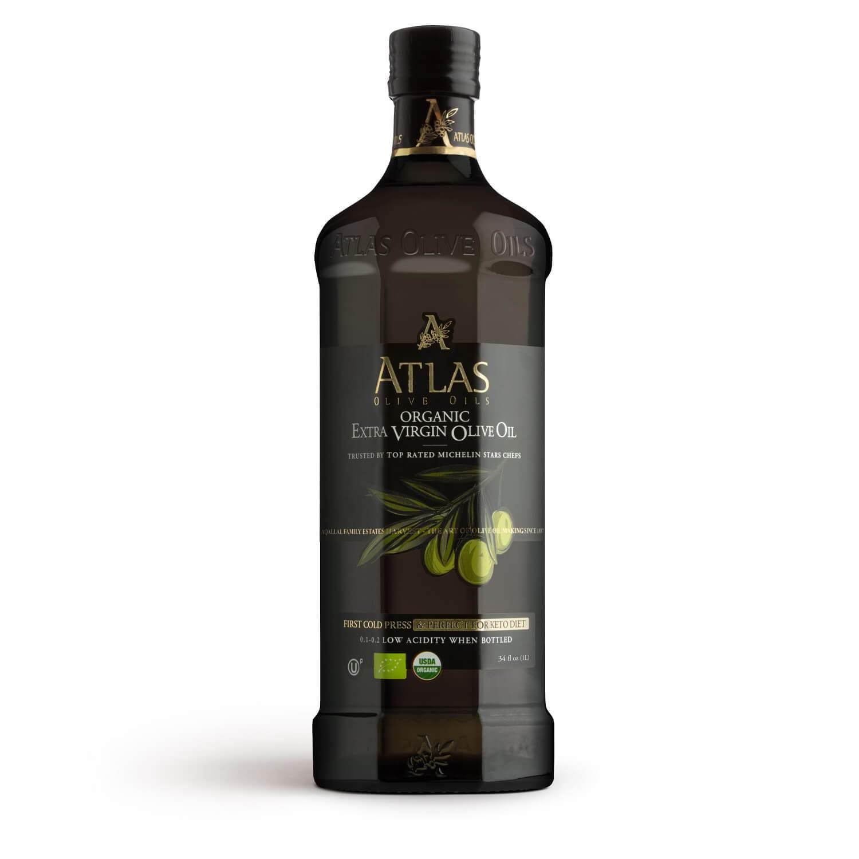 ATLAS Premium Organic Extra Virgin Olive Oil 1000ml glass bottle