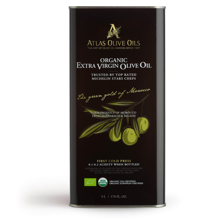 ATLAS Premium Organic Extra Virgin Olive Oil 5000ml metal tin