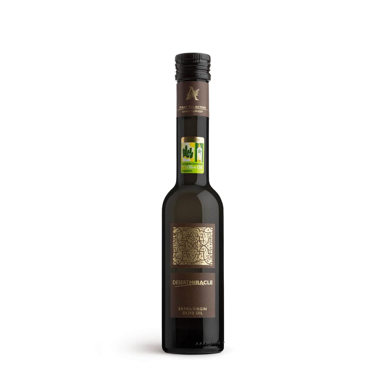 Desert Miracle Ultra-Premium Organic Extra Virgin Olive Oil 250ml glass bottle